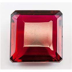 103.45 Ct Emerald Cut Red Quartz GGL Certificate