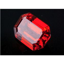 25.795 Ct Emerald Cut Ruby 18.14 mm x 12.93 mm