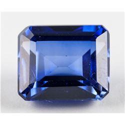 10.90 ct Emerald Cut Blue Sapphire AGSL Certificat