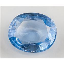 12.47Ct Oval Cut Blue Sapphire