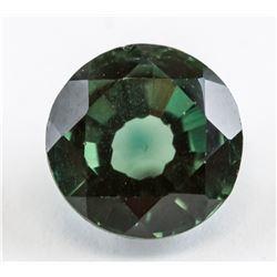 6 Ct Round Cut Green Sapphire AGSL Cert