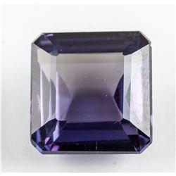 8.77 Ct Emerald Cut Purple Sapphire