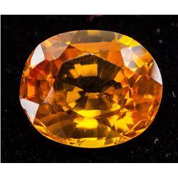 8.94 Ct Oval Cut Orange Sapphire
