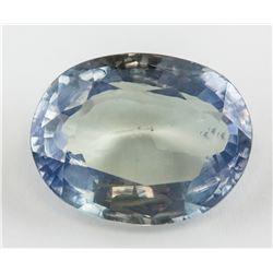 9.6 Ct Bluish Green Sapphire AGSL Certificate