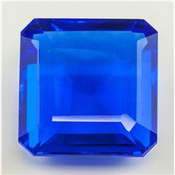 167.45 Ct Blue Emerald Cut Quartz with GGL CERT