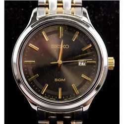 Seiko Two-Toned Stainless Steel Watch