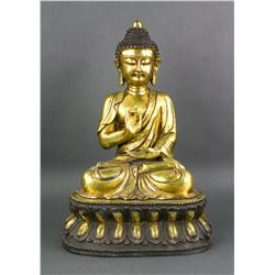 Chinese Gilt Bronze Shakyamuni Buddha Yongle Mark