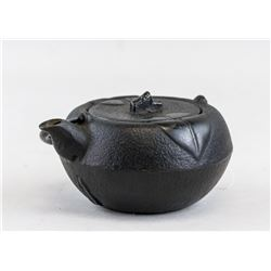 Japanese Iron Cast Teapot with Two Artist Marks