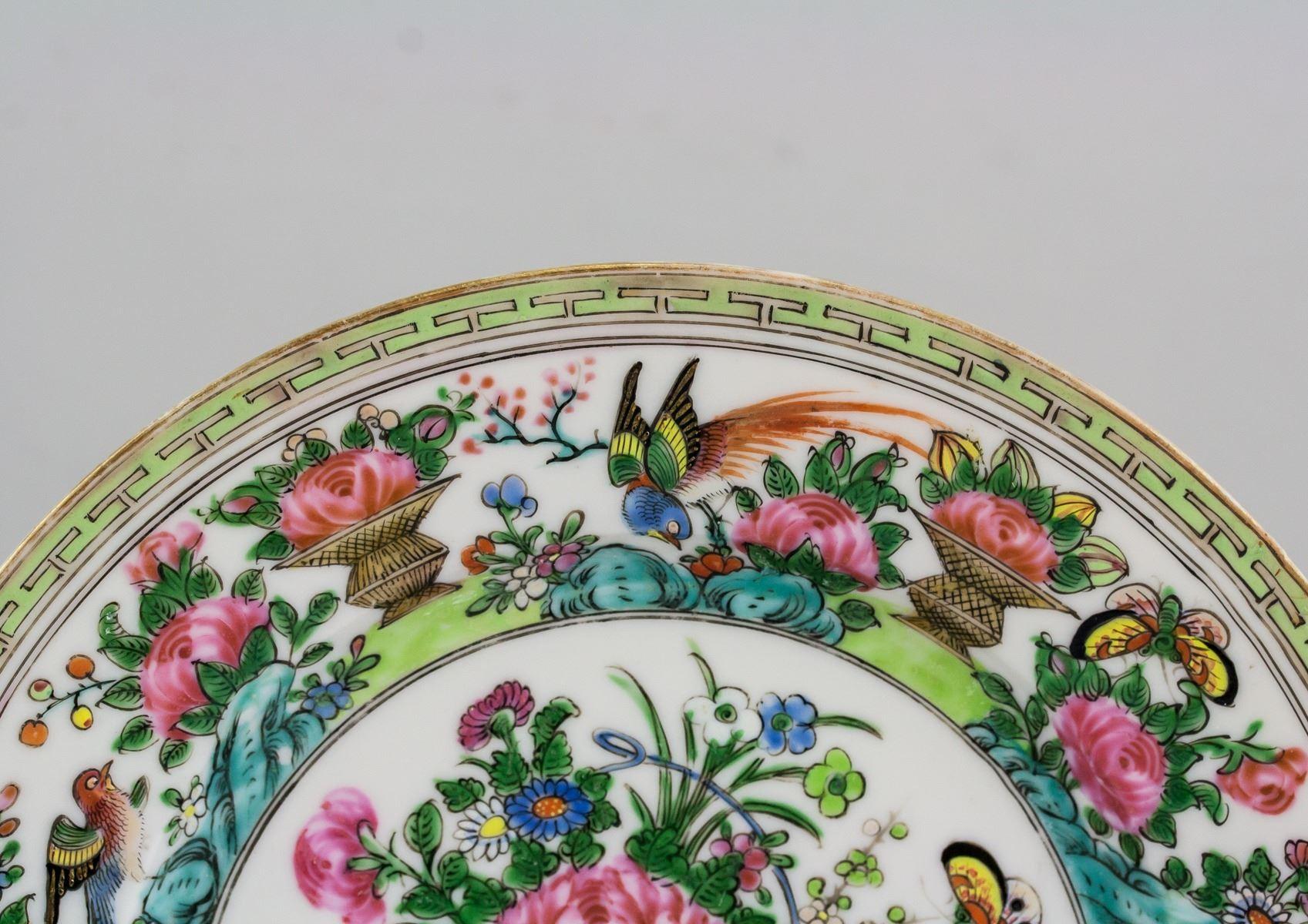 Chinese Canton Enamel Porcelain Plate