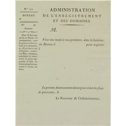 1775 French Administrative Document