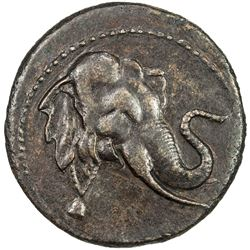 INDO-GREEK: Demetrios I, ca. 200-190 BC, AE triple unit (11.52g). VF-EF
