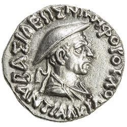 INDO-GREEK: Antialkides, ca. 115-95 BC, AR drachm (2.44g). EF