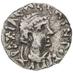 INDO-SCYTHIAN SATRAPS: Bhadrayasha, ca. 100 AD, AR drachm (2.18g). VF