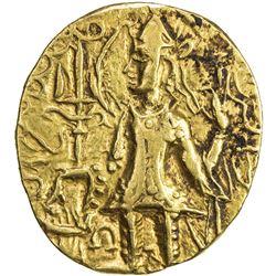 KUSHAN: Vasishka, ca. 240-260, AV dinar (7.74g). VF-EF