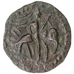 KUSHAN: Huvishka, ca. 155-187, AE 1/4 unit (2.16g). EF