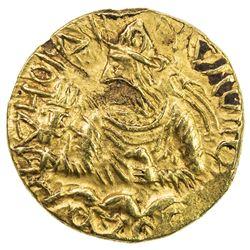 KUSHAN: Huvishka, ca. 155-187, AV 1/4 dinar (2.00g). EF