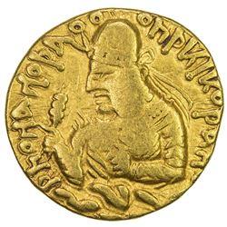 KUSHAN: Huvishka, ca. 155-187, AV dinar (7.70g). F-VF