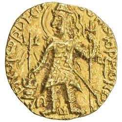 KUSHAN: Kanishka II, ca. 226-340, AV dinar (7.73g). EF