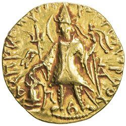 KUSHAN: Vasishka, ca. 240-250, AV dinar (7.84g). VF-EF