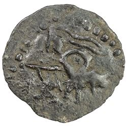 POST-KUSHAN: probably 4th century, AE (1.38g). EF