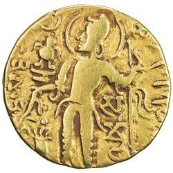 GUPTA: Samudragupta, 344-378, AV dinar (7.45g). F