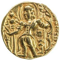 GUPTA: Chandragupta II, 383-412, AV dinar (7.80g). VF-EF