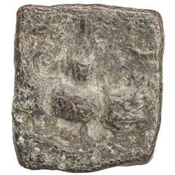 GUPTA: Chandragupta II, 383-412, lead square (3.21g). F