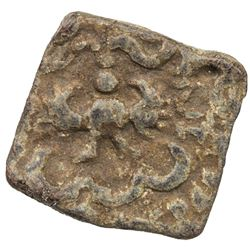 GUPTA: Kumaragupta I, 409-450/52, lead square (3.43g), Pieper-891 (this piece), F-VF