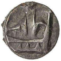 PANCHALA: Rajnyah Vijayamitra, ca. 220 AD, AE 1/2 karshapana (1.52g). EF