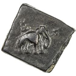 PUSHKALAVATI: Anonymous, 2nd century BC, AE square unit (13.43g). VF