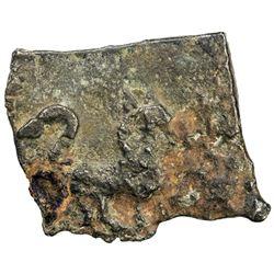SATAVANHANAS: Satakarni, ca. 100-50 BC, potin (10.80g). VF