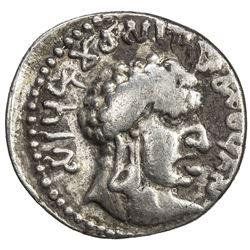 SATAVANHANAS: Vasisthiputra Sri Pulumavi, late 1st century AD, AR drachm (2.20g). VF