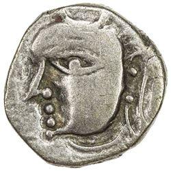 VARDHANA: Prabhakara, ca. 580-605, AR drachm (2.24g). VF