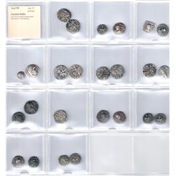ANCIENT INDIA: LOT of 25 common ancient coins