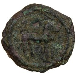 CEYLON: Anonymous, ca. 2nd/3rd century AD, AE unit (2.55g). VF