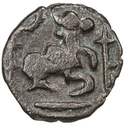 CEYLON: Pandya influence, ca. 830-918, AE unit (3.39g). VF