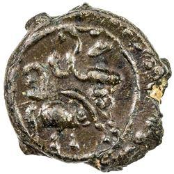 PALLAVAS: Mahendravarman, ca. 580-630, potin (2.65g). EF-AU