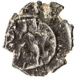 PALLAVAS: Narasimhavarman, ca. 630-668, potin (1.48g). EF