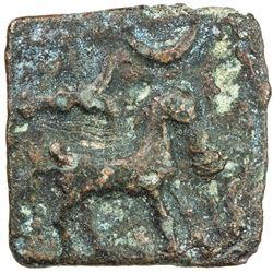 MALAYAMAN: Anonymous, 1st century AD, AE square (4.01g). VF