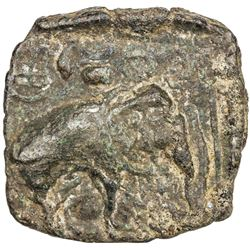 PANDYAS: Middle period, ca. 175-30 BC, AE unit (7.16g). VF