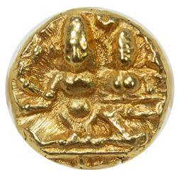 VIJAYANAGAR: Hari Hara II, 1377-1404, AV 1/2 pagoda. NGC MS63