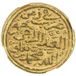 DELHI: Muhammad III b. Tughluq, 1325-1351, AV dinar (12.85g), Hadrat Delhi, AH727. NGC MS62