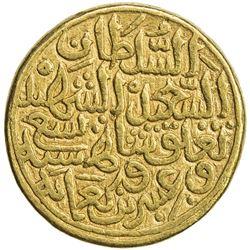 DELHI: Muhammad III b. Tughluq, 1325-1351, AV dinar (12.78g), NM, AH729. VF