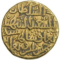 DELHI: Muhammad III b. Tughluq, 1325-1351, AV tanka (11.00g), NM, AH735. VF