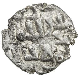 GHAZNAVID AT MULTAN: Mahmud, 1005 & 1011-1030, AR damma (0.45g), NM, ND. EF