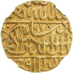 MUGHAL: Akbar I, 1556-1605, AV mohur (10.85g), Agra, AH978. NGC MS62