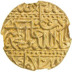 MUGHAL: Akbar I, 1556-1605, AV mohur (10.87g), Agra, AH982. NGC MS63