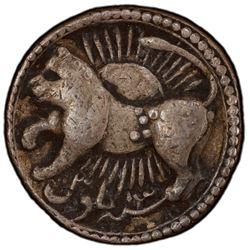 MUGHAL: Jahangir, 1605-1628, AR rupee (early imitation), Ahmadabad, AH1027 year 13, VF