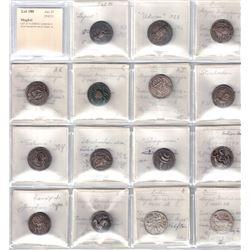 MUGHAL: LOT of 15 ZODIAC imitations in silver