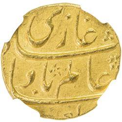 MUGHAL: Shah Alam Bahadur, 1707-1712, AV mohur, Shahjahanabad, AH1120 year 2. NGC MS61